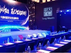 大唐财富2019企业金融论坛舞台侧面