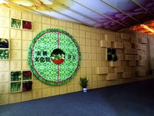 蔬博会会展背景墙