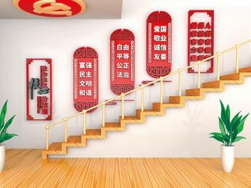 党政文化墙楼梯墙