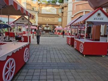 欧式风情商业街美陈制作
