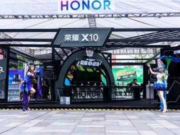 华为荣耀X10手机展厅搭建现场