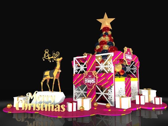 商场美陈-圣诞节主题