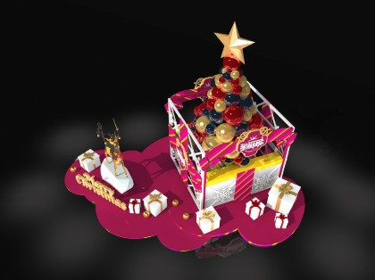 圣诞礼盒美陈
