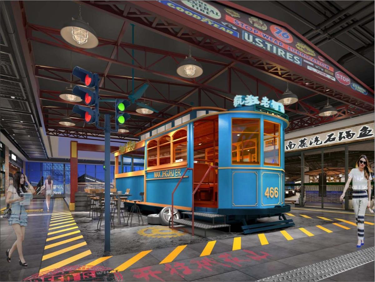龙泉驿万达广场-极速饕餮 -汽车主题街区打造