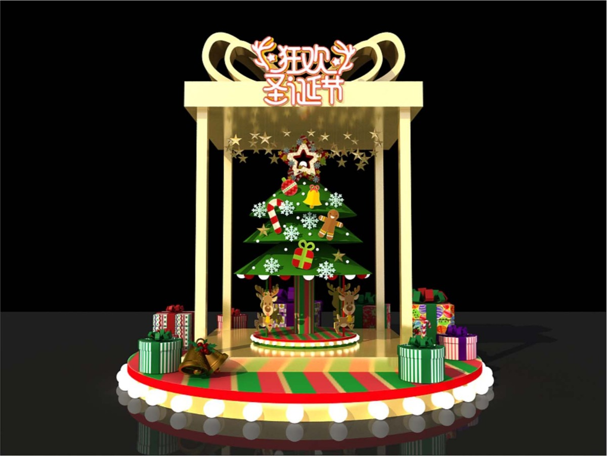 商场圣诞礼盒DP点设计